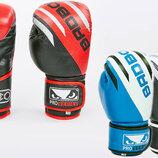 Перчатки боксерские кожаные на липучке Bad Boy 6739 10-12 унций, кожа 3 цвета