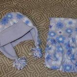 комплект шапка шарф варежки на 3-4 года рост 104 Англия