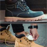Мужские зимние ботинки Оригинал South Walker, черные и желтые, р. 41-45, SOF9984-5