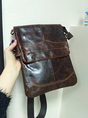 b397bdab6fc2 Стильная мужская сумка мессенджер из натуральной кожи гранж : 999 ...