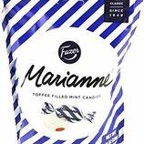 Мятные конфеты с начинкой Toffee Fazer Marianne. Производитель Финляндия.