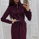 Стильное платье рубашка ткань креп-костюмка три цвета скл.1 арт.49816