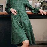 Стильное шерстяное ангоровое платье трапеция свободного кроя скл.1 арт.49834