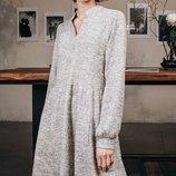 Стильное шерстяное ангоровое платье трапеция свободного кроя скл.1 арт.49833