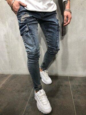 Стильные мужские джинсы 29-36 с карманами