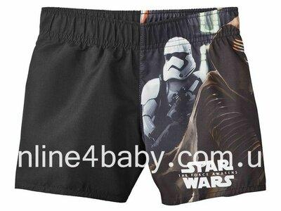 Детские плавки - шорты Star Wars на мальчика 2-4, 4-6 лет, рост 98/104, 110/116