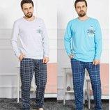 Пижама мужская лонгслив и брюки