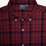 Мужская рубашка в клетку стрейч Asos XL L