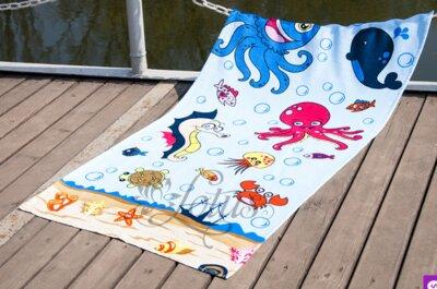 Полотенце Lotus пляжное - Sea World 75 150 велюр