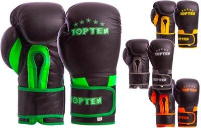 Перчатки боксерские кожаные на липучке Top Ten 6756 10-12 унций, кожа