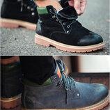 Мужские зимние ботинки Оригинал South Forest, черные и серые, р. 41-45, SOF9998-9