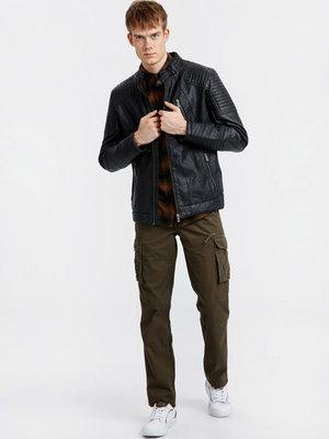 Куртка мужская, демисезонная кожаная, новая, Турция, S-L, XL, XXL, 46-50, 52, 54, 56