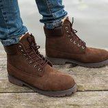 Зимние мужские ботинки Timberland Тимберленд, безупречное качество, р 41-45, код SOF0603