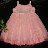 красивое нарядное платье Monsoon 1.5-2 года отл состояние
