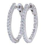 Золотые серьги кольца с бриллиантами 1.26 карата .Проба 14К