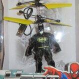 Супергерои летающие. Бетмен, Халк, Супермен, Человек-Паук