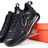 Кроссовки мужские Nike Air Max 720 черные с золотом
