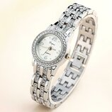 Стильные модные нежные женские часы Lvpai Svarowski