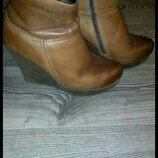 Сапоги ботильоны ботинки полусапожки кожаные зимние