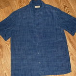 Рубашка с коротким рукавом мужская L