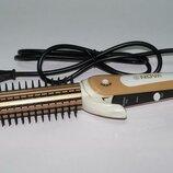 Профессиональный стайлер 3 в 1 плойка-утюжок-гофре с расческой для волос Nova