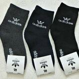 Махровые спортивные носки Adidas унисекс Турция р.35-41