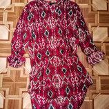 Яркое платье-рубашка , туника .