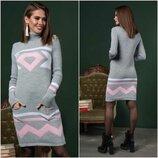 Платье Состав акрил 80% 20%шерсти Размеры 44-52 универсал