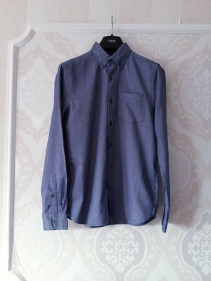 Размер S Стильная фирменная хлопковая мужская рубашка