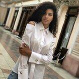 рубашка Размер 42-44,44-46,48-50 Ткань коттон - рубашка Цвет белый, черная полоска,лиловая полоск
