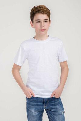Футболка детская и подростку белая плотность 160 г на кв. м гипоаллерген Высшее качество