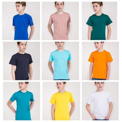Детская футболка синяя , зелёная , желтая , оранжевая , чёрная для физкультуры в садик и школу хб