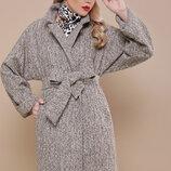 Пальто двубортное шерсть альпака