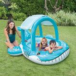 Бассейн детский надувной Intex 57125 с навесом Интекс
