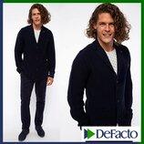 мужской пиджак De Facto / Де Факто шерстяной, на пуговицах, с карманами
