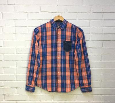 Рубашка в клетку р. m pull&bear