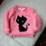 Кофта 1-2года свитер пуловер пайта флиска джемпер
