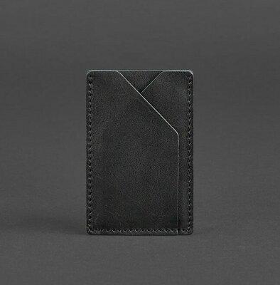 Кардхолдер компактный кожаный черный BN-KK-8-g