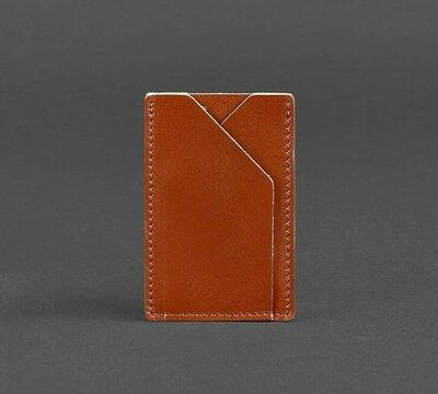 Кардхолдер компактный кожаный коньяк BN-KK-8-k