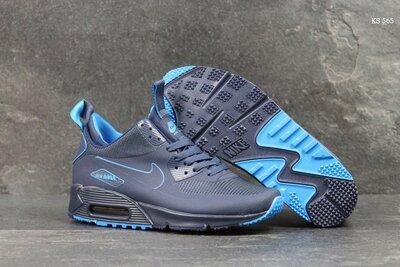 Красивые мужские кроссовки Nike Air Max 90 Найк, р. 41-45, темно-синие, 24FKS565