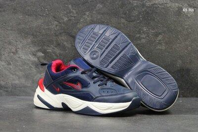 Модные мужские кроссовки Nike Найк, р. 40-45, темно-синие, 24FKS566
