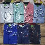 Рубашка хлопок и стрейч-хлопок на рост 146-170
