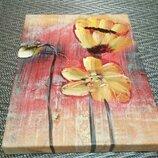 Картина на холсте без рамки нарисованная масляными красками 25х20 Распродажа