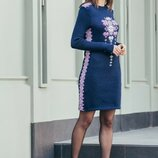 Платье в украинском стиле 42-48 размеры 5 расцветок