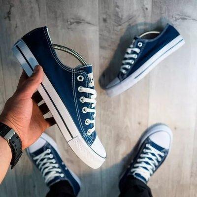 36-46р Конверсы кеды кроссовки под Converse AIL stаr женские мужские синие джинс