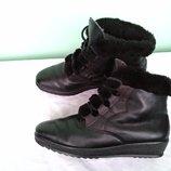 Полусапоги кожаные р.40 Rohde Германия женские зимние ботинки