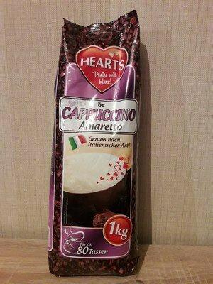 Большущая упаковка капуччино 1000 грамм Hearts Cappuccino Amaretto