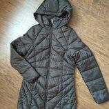 Новая куртка из германии демисезонная удлиненная коричневая