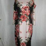 Платье миди с цветочным принтом 12p