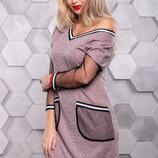 Стильное платье спортивного стиля 1096